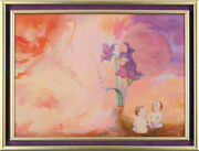 Charles Bragg - Garden Of Eden Oil Painting On Canvas Signed Circa 1974