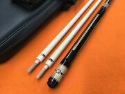Longoni Carom Cue Amalia Octagonal Butt With S30 Shafts And Top Notch Leather Case