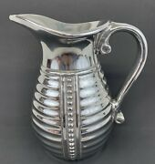 """Wilton Armetale Water Pitcher 9"""" Tall At Spout Opening 4 1/2"""" R Wp Pewter"""