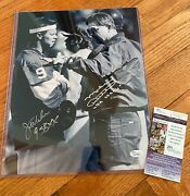 Chicago Bears Jim Mcmahon And Mike Ditka Signed Auto 11x14 Photo Coa Jsa