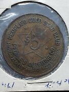 Rare Shelby Mi Trade Token Peopleand039s Outfitting Gold Star Club Gf 5 - Tc70084
