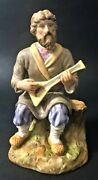 """Antique Imperial Russian Gardner Porcelain Figurine """"a Man With A Balalaika"""""""
