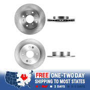 Front 260 Mm And Rear 259 Mm 4 Lug Brake Disc Rotors For Honda Accord Coupe Cl