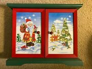 Thomas Pacconi Wooden Advent Calendar With 21/24 Christmas Ornaments 2003