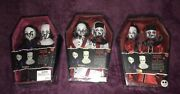 Living Dead Dolls Sinister Minister And Bad Habit All 3 Versions Red Black And White