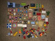 Huge Lot Of Vintage Playmobil People Animal Figures And Accessories