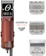 Oster Classic 76 Motor Clipper 76076 Blade Size 000 And 1 And Bonus Blade 3.75 New