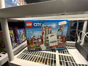 Open Box Sealed Bags Lego City Fire Station 60110 Retired From 2016 New 919 Pcs