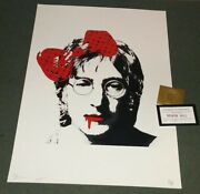 Death Nyc Rare John Lennon Lithograph Signed Numbered Art Print 2018 Beatles
