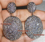 Real 6.52ct Antique Rose Cut Diamond Attractive Anniversary Wear Dangle Earrings