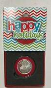 2020 Santa Face 1/2-ounce Coin In Capsule And Happy Holidays Red Gift Box