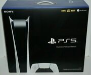 New Playstation 5 Digital Edition Ps5 White Console System In Hand And Ship Ready
