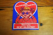 Vintage Holiday Wall Decorations – Valentine – Girl Be My Valentine
