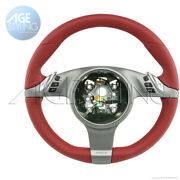 Porsche 997 Cayman Boxster Media Pdk Heated Steering Wheel Carrera Red Leather
