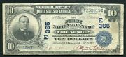 1902 10 Db The First Nb Of Friendship Ny National Currency Ch. 265 Rare