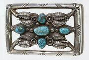 Santo Domingo Buckle Carl Luthy Shop High Grade Red Mountain Spiderweb Turquoise