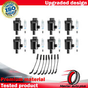 Engine Ignition Coil Wireset And Acdelco Double Platinum Spark Plug For Gmc Sierra