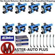 Direct Ignition Coil Wireset And Acdelco Double Platinum Spark Plug For Gmc Sierra
