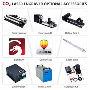 Rotary Axis Laser Power Chiller Tube Autofocus - Co2 Laser Engraver Accessories