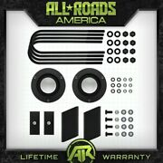 Full 2 Fr Spacers + Rr Lift Kit For 03-13 Ram 2500 3500 4 Axle W/ Sway Bar