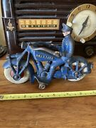 """Antique Vintage Cast Iron Champion Motorcycle Toy 7"""""""