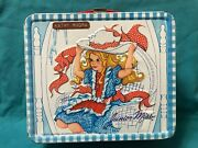 Rare 1973 Junior Miss Metal Lunch Box And Thermos Lunchbox Set Very Clean.
