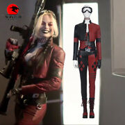 Dfym Suicide Squad Harley Quinn Cosplay Costume Leather Outfit Women Halloween