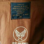 Excellent 90's The Real Mccoy's A-2 Flight Jacket J.a Dubow Size 40 Used