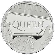 Great Britain 2020 Andpound10 Music Legends Queen Silver Proof 5 Oz Coin Coa 1
