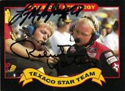 Robert Yates / Larry Mcreynolds Signed 1992 Texaco Maxx Trading Card Nascar 9