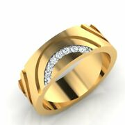 18k Yellow Gold 0.70 Ct Real Diamond Wedding Menand039s Rings Size 8 9 10 Certified