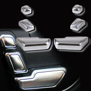 Plastic Silver Memory Seats Switch Button Covers For 12-16 R172 Slk350 Slk55