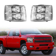 Headlights Assembly Lamps For 2007-2014 Chevrolet/chevy Silverado 1500/2500/3500