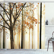 Autumn Shower Curtain Tree In Abstract Woods Print For Bathroom 70 Inches Long
