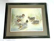 Jim Foote 1980 Framed Duck Art Print - Signed And Numbered 217/580