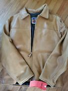 Schott Nyc Hard Rock Cafe Antique Chestnu Leather Jacket Made In Usa Rare Large