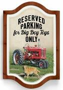 Big Boy Toys - Tractor Vintage Framed Tin Sign By Neal Anderson