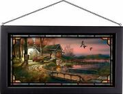 Hunterand039s Haven Stained Glass Art By Terry Redlin