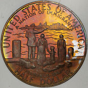 1986-s Statue Of Liberty Half Dolor 50 Cents Proof Multi Color Toned Gem Coin