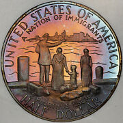 1986-s Statue Of Liberty Half Dolor 50 Cents Proof Coin With Amazing Toning
