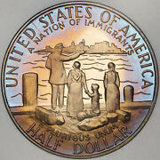 1986-s Statue Of Liberty Half Dolor 50 Cents Proof Color Toned Appeal Coin