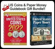 2022 Official Red Book Guide Us Coins Spiral And Us Paper Money 7th Ed Catalog Lot