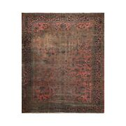 9and0393 X 11and0392 Hand Knotted 100 Wool Antique Lilyhan Oriental Area Rug Rose
