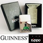 Brand New Collectible 2005 Zippo Guinness Lighter + Original Box And Instructions