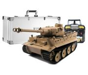 116 Mato German Tiger I Rc Tank Early Ver. 2.4ginfrared 100 Metal Desert Pro