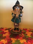 """Steinbach Scarecrow Wizard Of Oz Nutcracker Mint Condition W/box And Tags 18"""" 1999"""