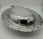 Vintage 1945 Silverplate Casserole Serving Covered Dish With Lid 12.5 X 9 X 3