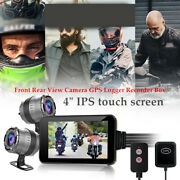 Motorcycle Dvr Dash Cam Wifi Fhd Front Rear View Camera Gps Logger Recorder