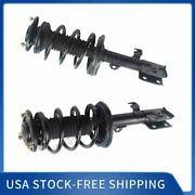 Pair Complete Struts Coil Assemblies For 2009-2010 Toyota Matrix Base Fwd 1.8l