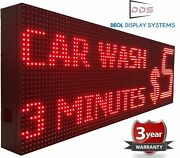 Store Signs Red Color Still Scrolling Text Open Display Outdoor 12 X 125